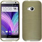 Silicone Case for HTC One Mini 2 brushed gold