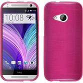 Silicone Case for HTC One Mini 2 brushed hot pink