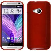 Silicone Case for HTC One Mini 2 brushed red