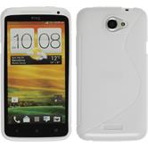 Silicone Case for HTC One X S-Style white