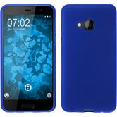 Silicone Case U Play matt blue + protective foils