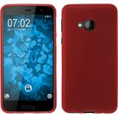 Silicone Case U Play matt red + protective foils
