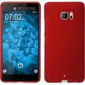 Silicone Case U Ultra matt red + protective foils
