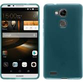 Silicone Case for Huawei Ascend Mate 7 transparent turquoise