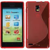 Silicone Case for Huawei Ascend P1 S-Style red