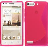 Silicone Case for Huawei Ascend P7 Mini S-Style hot pink