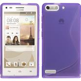 Silicone Case for Huawei Ascend P7 Mini S-Style purple