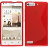 Silicone Case for Huawei Ascend P7 Mini S-Style red