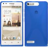 Silicone Case for Huawei Ascend P7 Mini X-Style blue