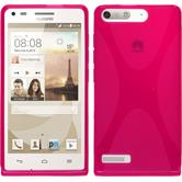Silicone Case for Huawei Ascend P7 Mini X-Style hot pink