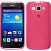 Silicone Case for Huawei Ascend Y520 X-Style hot pink