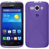 Silicone Case for Huawei Ascend Y520 X-Style purple