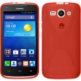 Silicone Case for Huawei Ascend Y520 X-Style red