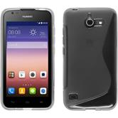 Silicone Case for Huawei Ascend Y550 S-Style gray