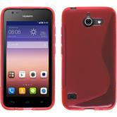 Silicone Case for Huawei Ascend Y550 S-Style red