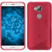 Silicone Case for Huawei G8 S-Style hot pink