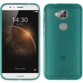 Silicone Case for Huawei G8 transparent turquoise
