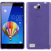 Silicone Case for Huawei Honor 3C transparent purple