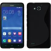 Silicone Case for Huawei Honor 3X G750 S-Style black