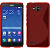 Silicone Case for Huawei Honor 3X G750 S-Style red