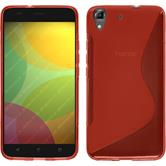 Silicone Case for Huawei Honor 4A S-Style red