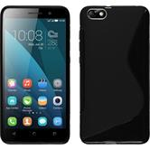 Silicone Case for Huawei Honor 4x S-Style black