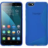 Silicone Case for Huawei Honor 4x S-Style blue
