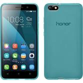 Silicone Case for Huawei Honor 4x transparent turquoise