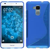 Silicone Case for Huawei Honor 5C S-Style blue
