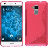 Silicone Case for Huawei Honor 5C S-Style hot pink