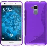 Silicone Case for Huawei Honor 5C S-Style purple