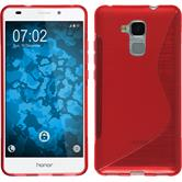 Silicone Case for Huawei Honor 5C S-Style red