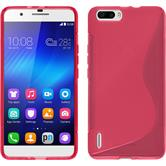 Silicone Case for Huawei Honor 6 Plus S-Style hot pink