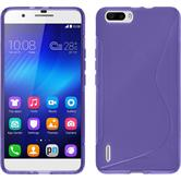 Silicone Case for Huawei Honor 6 Plus S-Style purple
