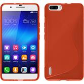 Silicone Case for Huawei Honor 6 Plus S-Style red