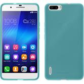 Silicone Case for Huawei Honor 6 Plus transparent turquoise