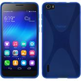 Silicone Case for Huawei Honor 6 X-Style blue