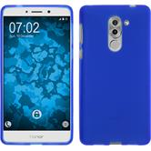 Silicone Case Honor 6x matt blue + protective foils