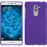 Silicone Case Honor 6x matt purple + protective foils
