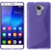 Silicone Case for Huawei Honor 7 S-Style purple