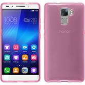 Silicone Case for Huawei Honor 7 transparent pink