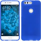 Silicone Case Honor 8 matt blue