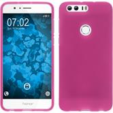 Silicone Case Honor 8 matt hot pink