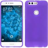 Silicone Case Honor 8 matt purple