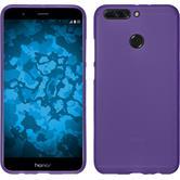 Silicone Case Honor 8 Pro matt purple + protective foils