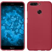 Silicone Case Honor 8 Pro matt red + protective foils