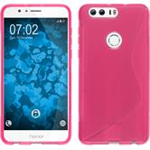 Silicone Case for Huawei Honor 8 S-Style hot pink