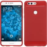 Silicone Case Honor 8 Ultimate red