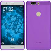 Silicone Case for Huawei Honor V8 transparent purple