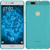 Silicone Case for Huawei Honor V8 transparent turquoise